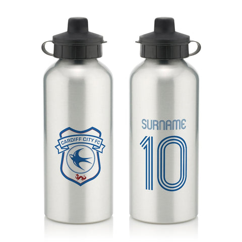 Cardiff City Retro Shirt Water Bottle - Official Merchandise Gifts