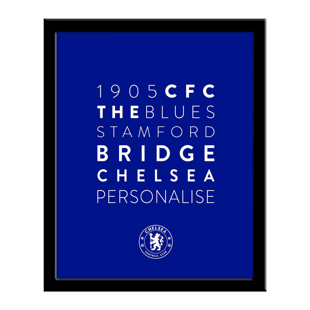 Chelsea FC Word Collage Framed Print - Official Merchandise Gifts
