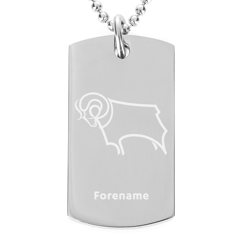 Derby County Crest Dog Tag Pendant - Official Merchandise Gifts
