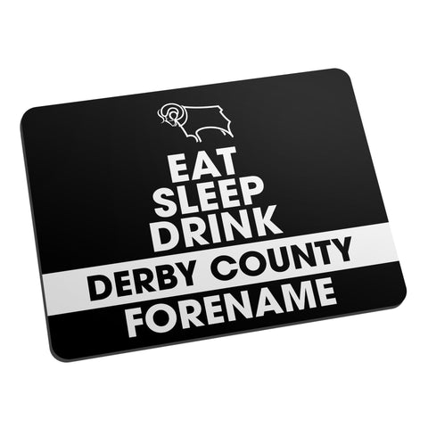 Derby County Eat Sleep Drink Mouse Mat - Official Merchandise Gifts