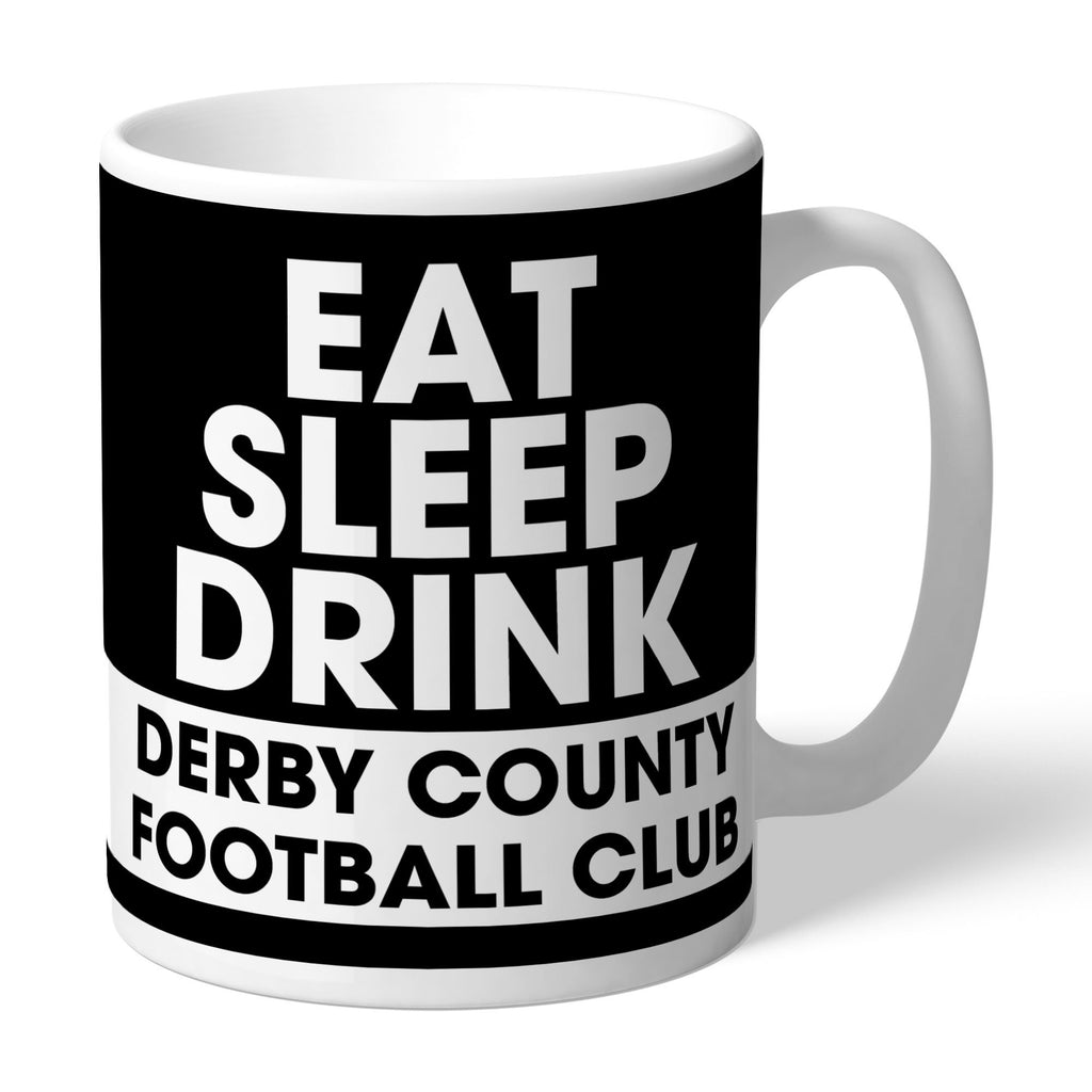 Derby County Eat Sleep Drink Mug - Official Merchandise Gifts