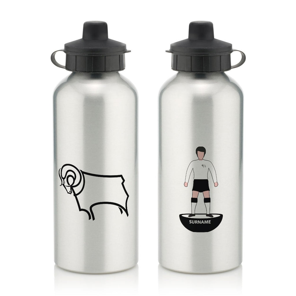 Derby County Player Figure Water Bottle - Official Merchandise Gifts