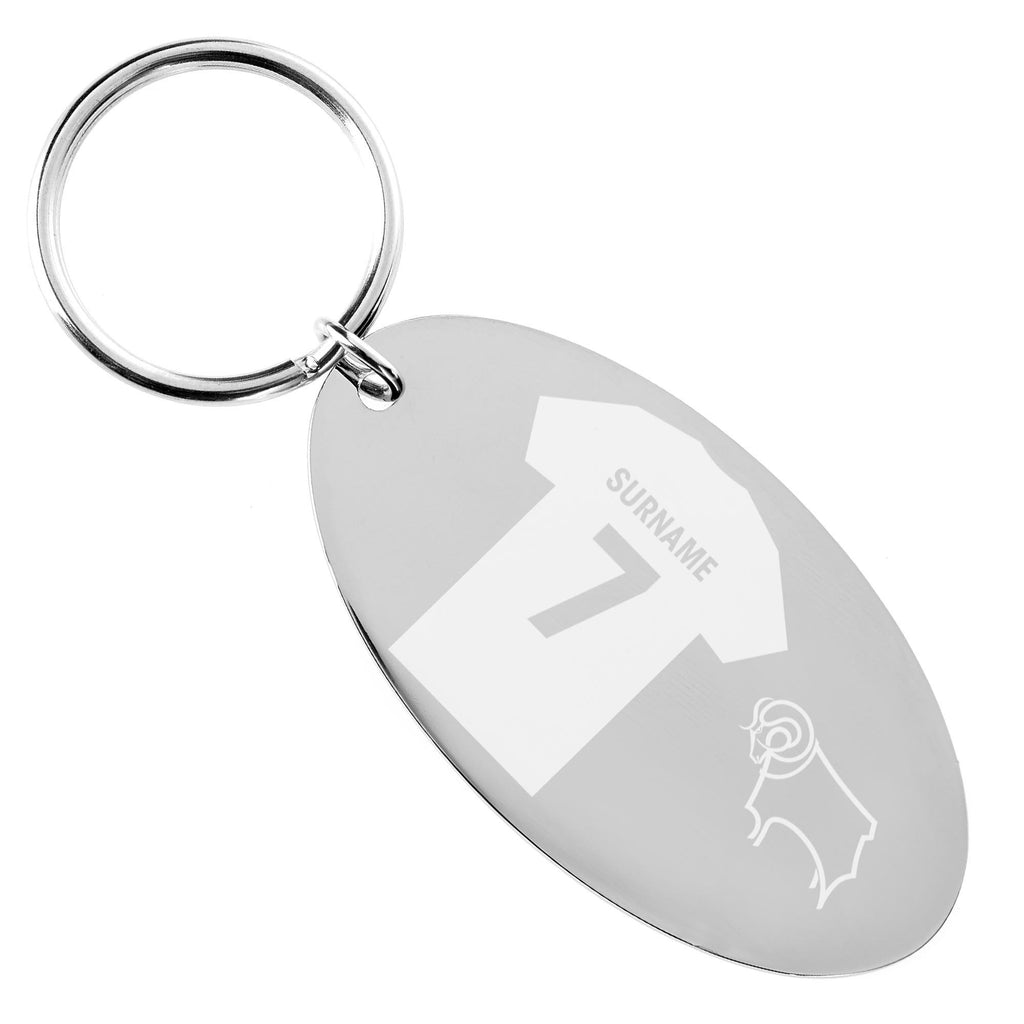 Derby County Shirt Keyring - Official Merchandise Gifts
