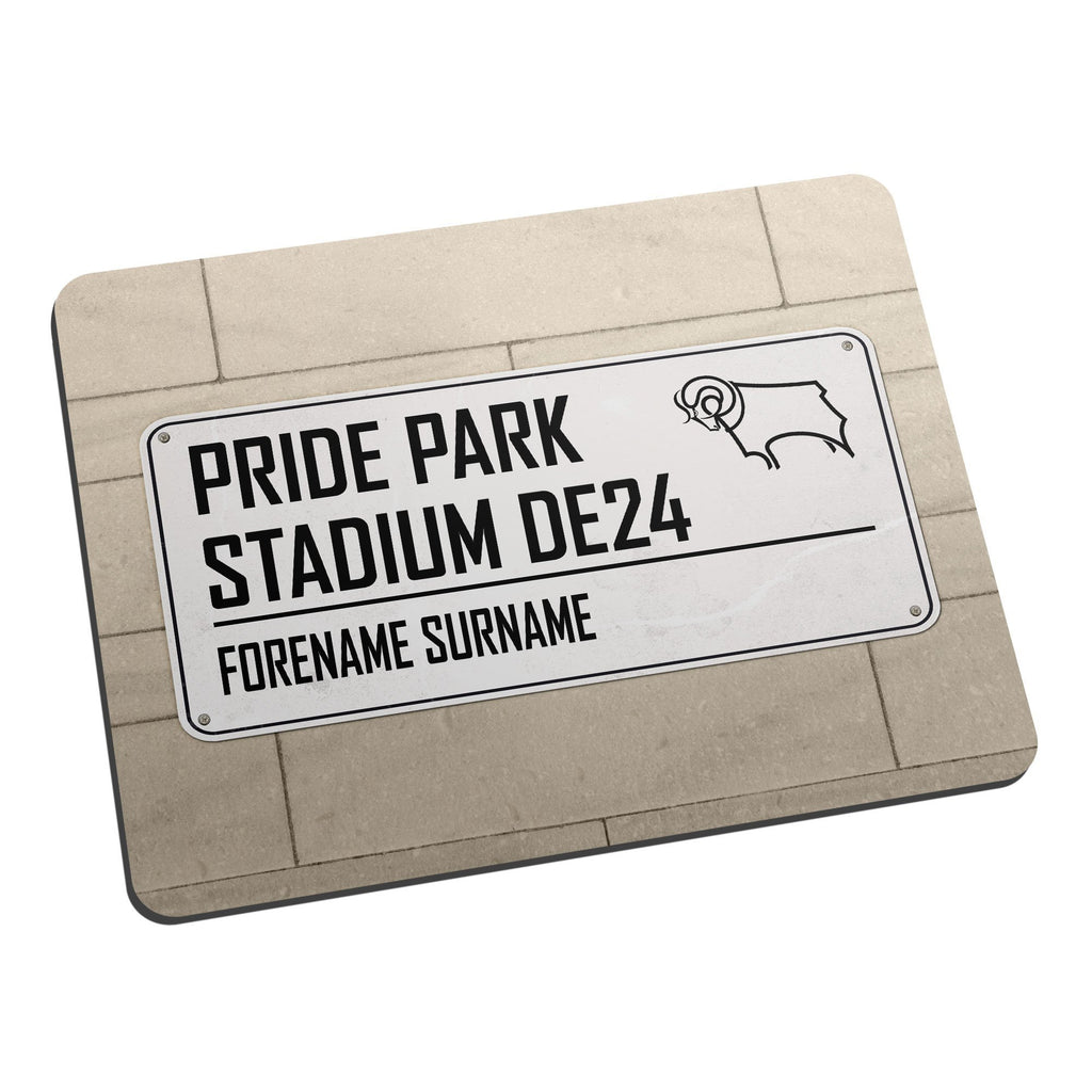 Derby County Street Sign Mouse Mat - Official Merchandise Gifts