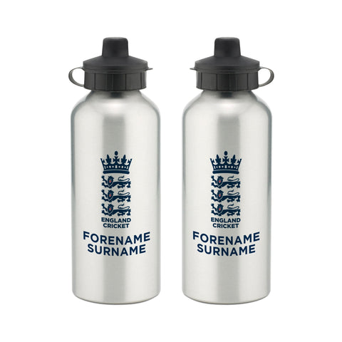 England Cricket Bold Crest Water Bottle - Official Merchandise Gifts