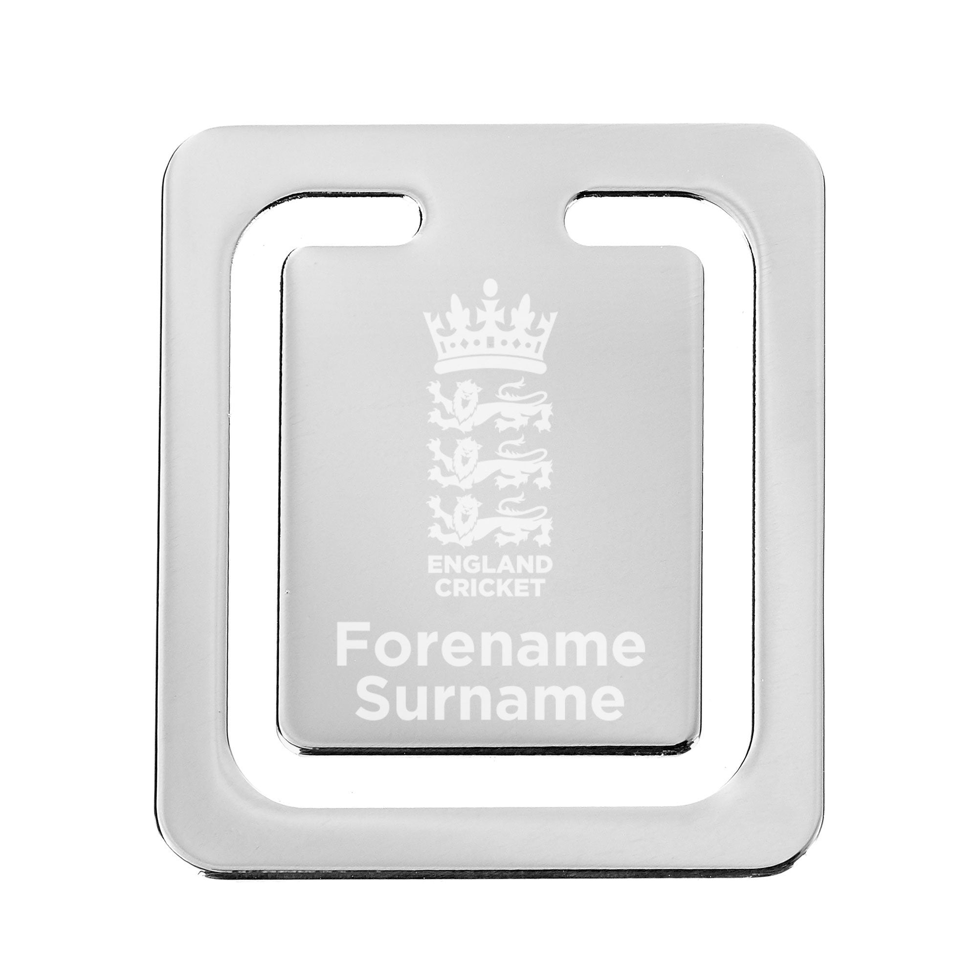 Personalised England Cricket Crest Bookmark, Office Supplies by Glamorous Gifts