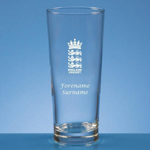 England Cricket Personalised Beer Glass - Official Merchandise Gifts
