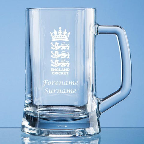 England Cricket Personalised Tankard - Official Merchandise Gifts