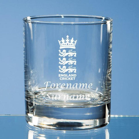 England Cricket Personalised Whisky Tumbler - Official Merchandise Gifts