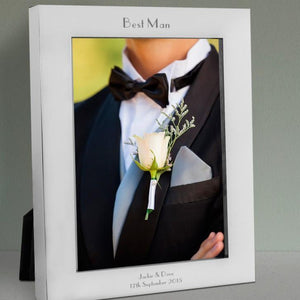 Engraved Best Man Silver Photo Frame - Official Merchandise Gifts