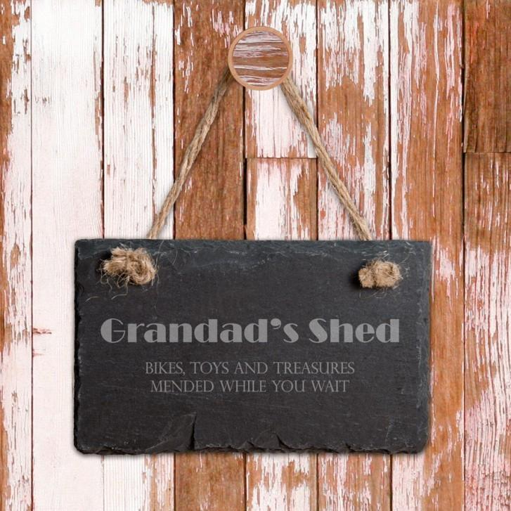 Engraved Slate Door Plaque - ideal for Dad or Grandad - Official Merchandise Gifts