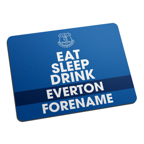 Everton FC Eat Sleep Drink Mouse Mat - Official Merchandise Gifts