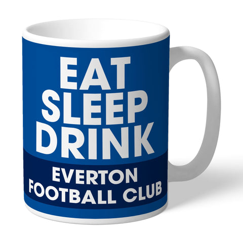Everton FC Eat Sleep Drink Mug - Official Merchandise Gifts