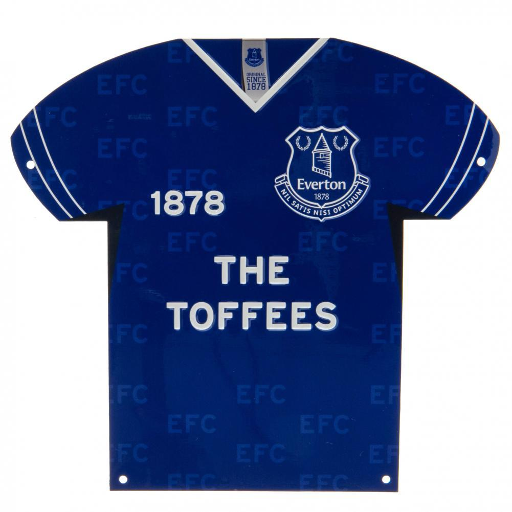 Everton FC Metal Shirt Sign, Autographed Sports Paraphernalia by Glamorous Gifts