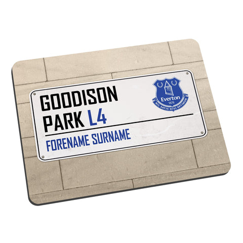 Everton FC Street Sign Mouse Mat - Official Merchandise Gifts