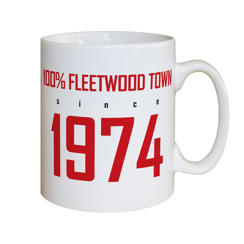 Fleetwood Town FC 100 Percent Mug - Official Merchandise Gifts