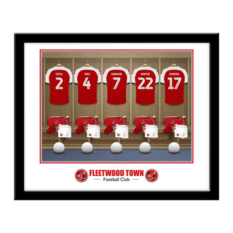 Fleetwood Town FC Dressing Room Framed Print - Official Merchandise Gifts