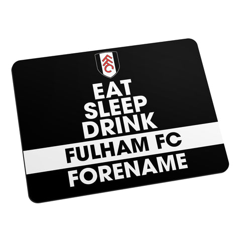 Fulham FC Eat Sleep Drink Mouse Mat - Official Merchandise Gifts