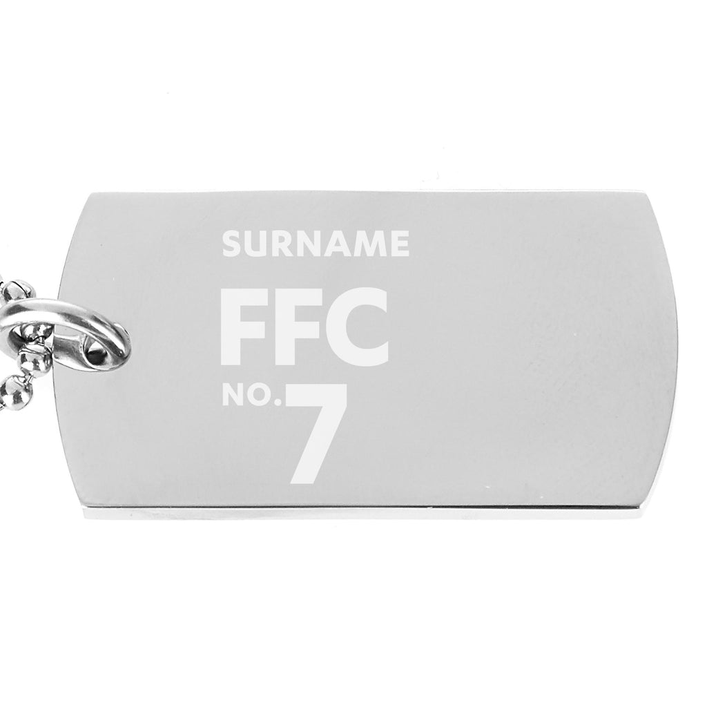 Fulham FC Number Dog Tag Pendant - Official Merchandise Gifts