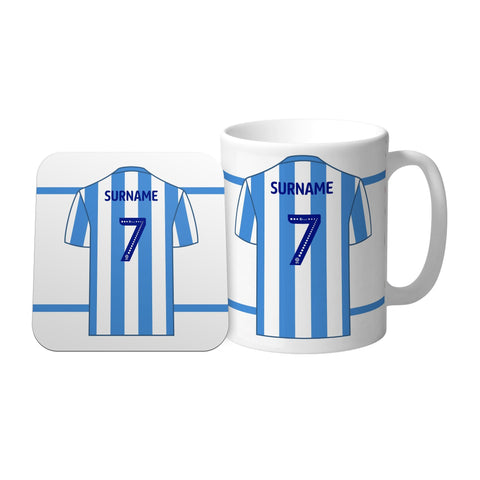 Huddersfield Town FC Shirt Mug & Coaster Set - Official Merchandise Gifts
