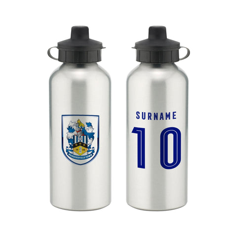 Huddersfield Town Retro Shirt Water Bottle - Official Merchandise Gifts