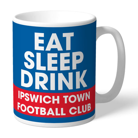 Ipswich Town FC Eat Sleep Drink Mug - Official Merchandise Gifts