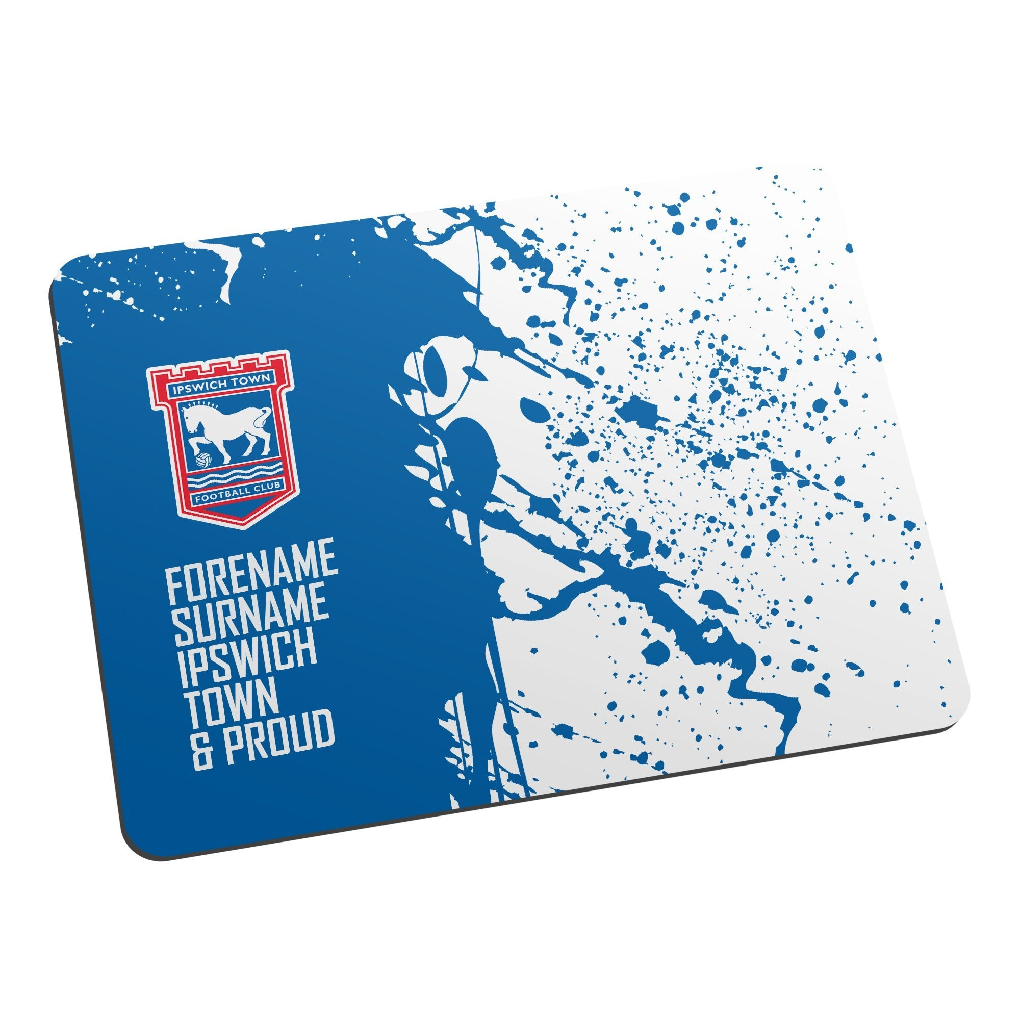 Personalised Ipswich Town FC Proud Mouse Mat, Electronics by Glamorous Gifts
