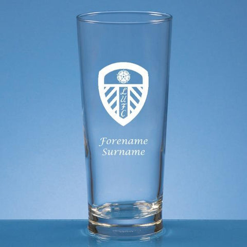 Leeds United FC Crest Straight Sided Beer Glass - Official Merchandise Gifts
