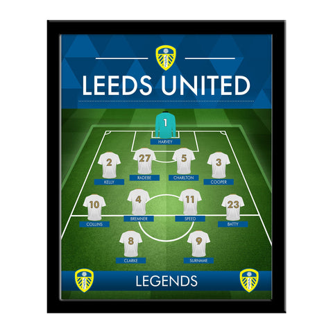 Leeds United FC Legends Line-Up Print - Framed - Official Merchandise Gifts