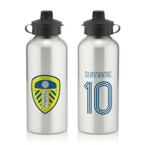 Leeds United FC Retro Shirt Water Bottle - Official Merchandise Gifts