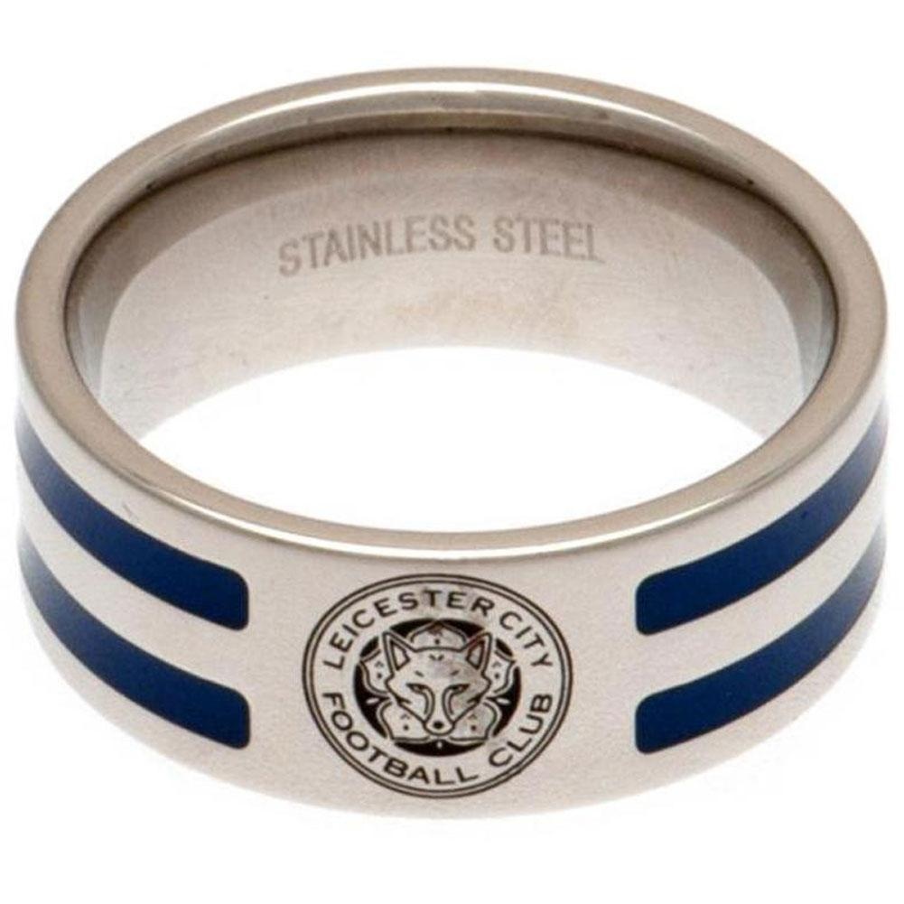Leicester City FC Colour Stripe Ring Medium, Clothing & Accessories by Glamorous Gifts UK