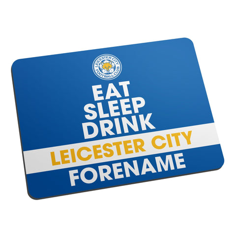 Leicester City FC Eat Sleep Drink Mouse Mat - Official Merchandise Gifts