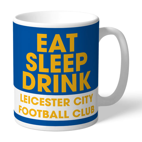 Leicester City FC Eat Sleep Drink Mug - Official Merchandise Gifts