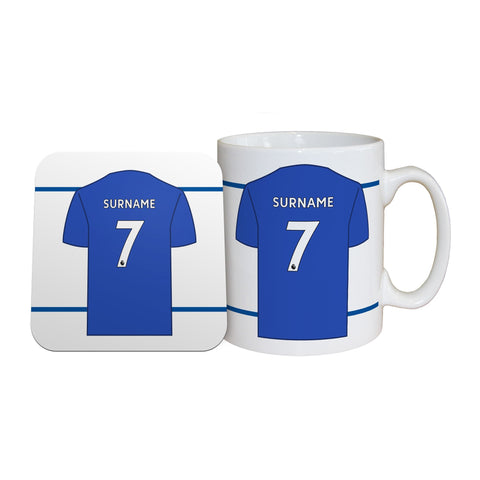 Leicester City FC Shirt Mug & Coaster Set - Official Merchandise Gifts