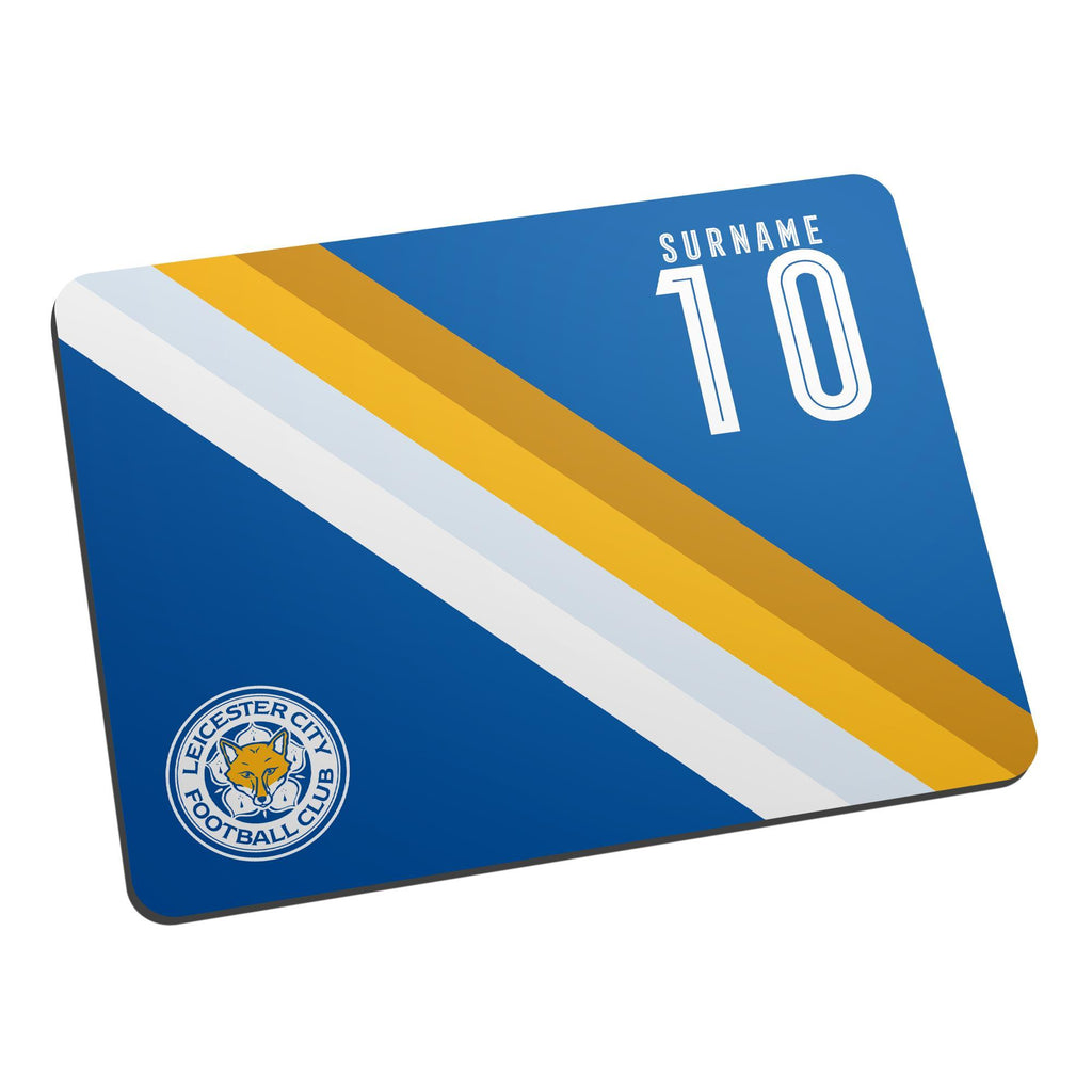 Leicester City FC Stripe Mouse Mat - Official Merchandise Gifts