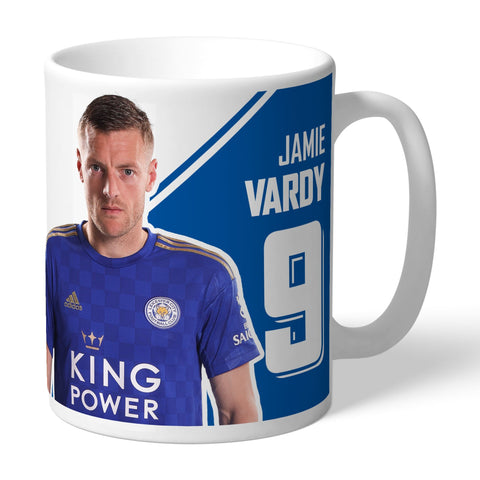 Leicester City FC Vardy Autograph Mug - Official Merchandise Gifts