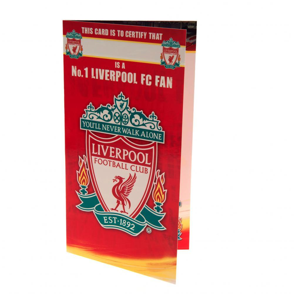 Liverpool FC Birthday Card No 1 Fan, Arts & Entertainment by Glamorous Gifts UK