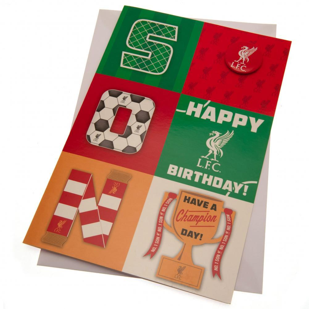 Liverpool FC Birthday Card Son, Gift Giving by Glamorous Gifts UK