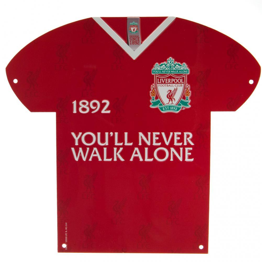 Liverpool FC Metal Shirt Sign CR, Collectables by Glamorous Gifts