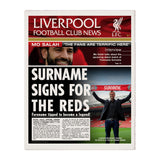 Liverpool FC News Page Print - Official Merchandise Gifts