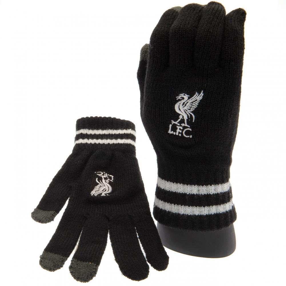 Liverpool FC Touchscreen Knitted Gloves Adult BK, Medical Supplies by Glamorous Gifts UK