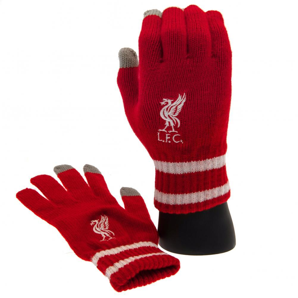 Liverpool FC Touchscreen Knitted Gloves Adult RD, Medical Supplies by Glamorous Gifts UK