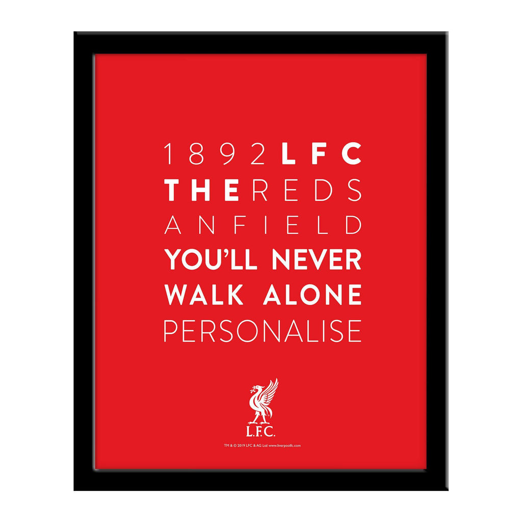 Liverpool FC Word Collage Framed Print - Official Merchandise Gifts