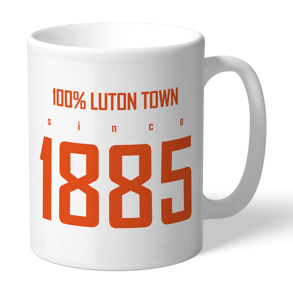 Luton Town FC 100 Percent Mug - Official Merchandise Gifts