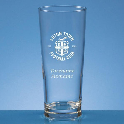 Luton Town FC Personalised Beer Glass - Official Merchandise Gifts