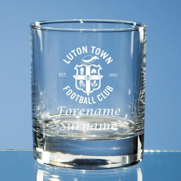 Luton Town FC Personalised Whisky Tumbler - Official Merchandise Gifts