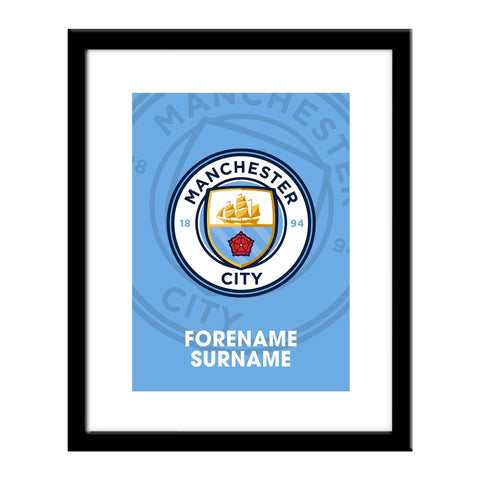 Manchester City FC Bold Crest Print - Official Merchandise Gifts
