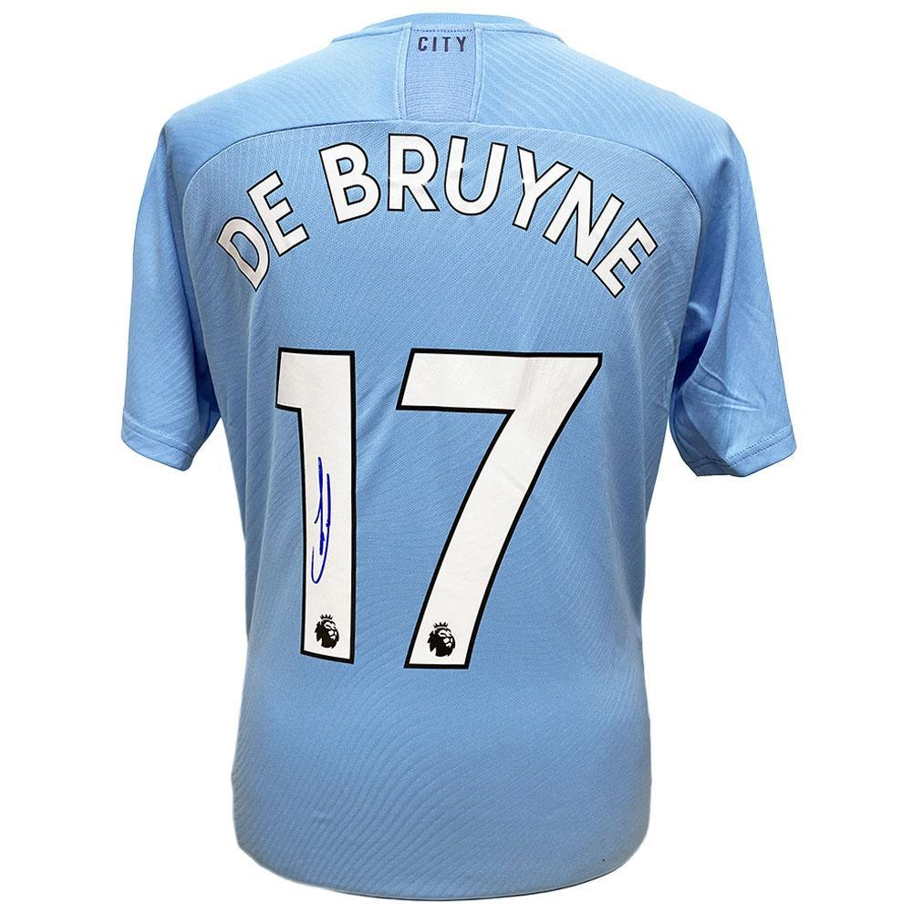 Manchester City FC De Bruyne Signed Shirt, Autographed Sports Paraphernalia by Glamorous Gifts