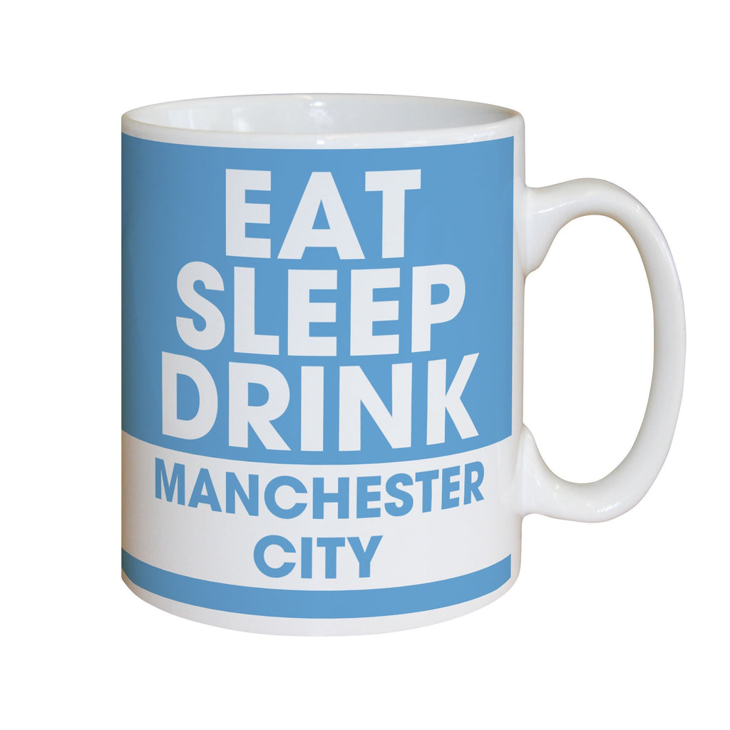 Manchester City FC Eat Sleep Drink Mug - Official Merchandise Gifts