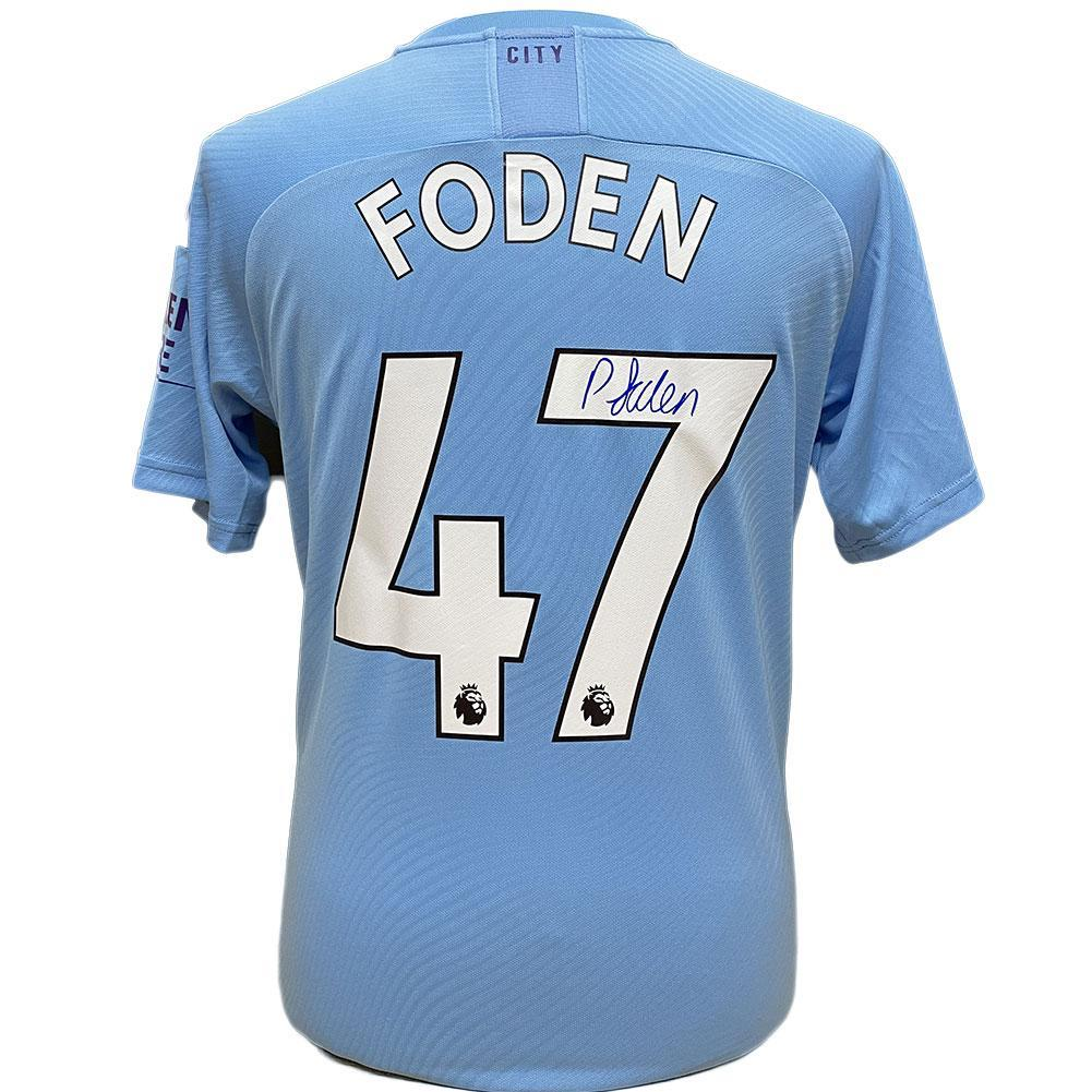 Manchester City FC Foden Signed Shirt, Autographed Sports Paraphernalia by Glamorous Gifts